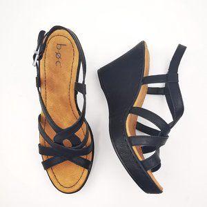 NIB B.O.C. Born Mady Wedge Black Sandal in Size 7